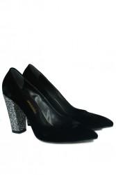 Fitbas 520121 075 Kadın Siyah Büyük & Küçük Numara Stiletto - Thumbnail