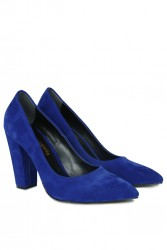 Fitbas 520121 427 Kadın Saks Büyük & Küçük Numara Stiletto - Thumbnail