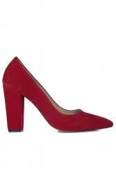 Fitbas 520121 527 Kadın Kırmızı Büyük & Küçük Numara Stiletto - Thumbnail