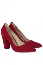 Loggalin 520121 527 Kadın Kırmızı Büyük & Küçük Numara Stiletto - Thumbnail