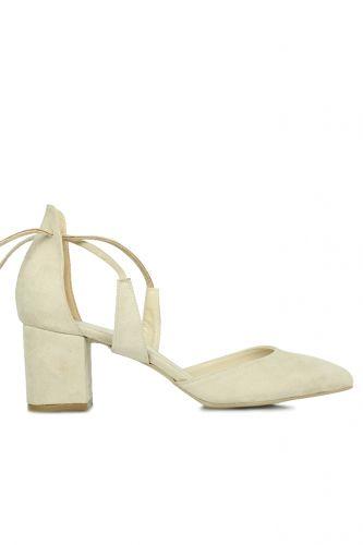 Fitbas 520130 327 Kadın Ten Süet Evening Büyük & Küçük Numara Ayakkabı