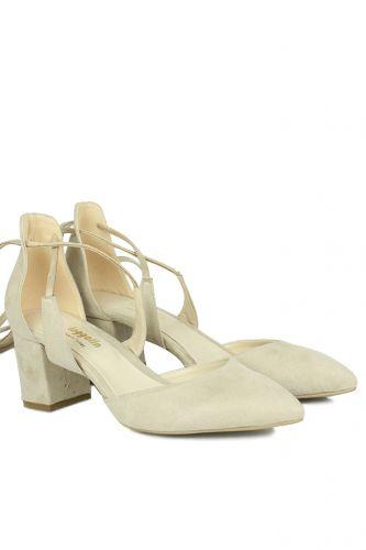 Fitbas - Fitbas 520130 327 Kadın Ten Süet Evening Büyük & Küçük Numara Ayakkabı (1)