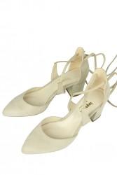 Fitbas 520130 327 Kadın Ten Süet Evening Büyük & Küçük Numara Ayakkabı - Thumbnail