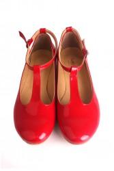Loggalin 782255 559 Kadın Kırmızı Babet - Thumbnail
