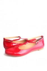 Fitbas 782255 559 Kadın Kırmızı Büyük & Küçük Numara Babet - Thumbnail