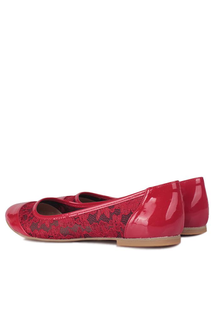 Fitbas 782257 501 Kadın Kırmızı Büyük & Küçük Numara Babet