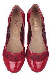 Fitbas 782257 501 Kadın Kırmızı Büyük & Küçük Numara Babet - Thumbnail