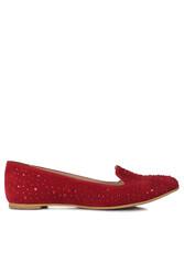 Fitbas 782268 527 Kadın Kırmızı Büyük & Küçük Numara Babet - Thumbnail