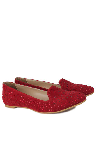 Fitbas - Fitbas 782268 527 Kadın Kırmızı Büyük & Küçük Numara Babet (1)