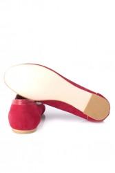 Fitbas 784367 558 Kadın Kırmızı Büyük & Küçük Numara Babet - Thumbnail