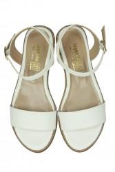 Fitbas 785206 468 Kadın Beyaz Büyük & Küçük Numara Sandalet - Thumbnail