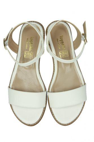 Loggalin - Loggalin 785206 468 Kadın Beyaz Büyük & Küçük Numara Sandalet (1)