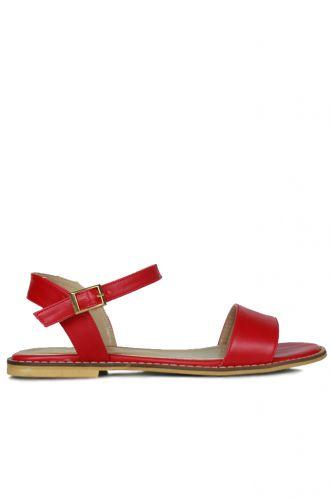 - Loggalin 785206 524 Kadın Kırmızı Sandalet
