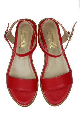 - Loggalin 785206 524 Kadın Kırmızı Sandalet (1)