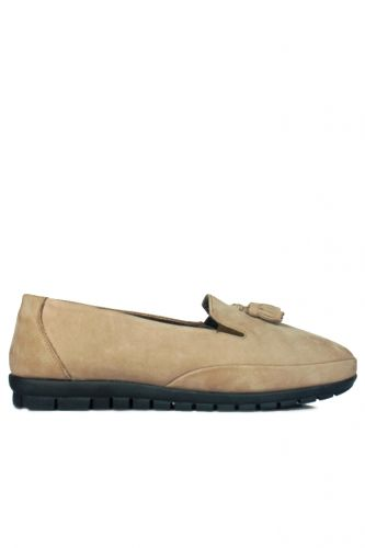 Fitbas - Loggalin 915049 327 Women Cream Suede Casual Shoes (1)