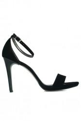 Loggalin 520333 008 Kadın Siyah Süet Topuklu Platform Ayakkabı - Thumbnail