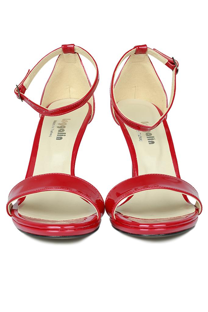 Fitbas 520333 520 Kadın Kırmızı Rugan Topuklu Platform Büyük & Küçük Numara Ayakkabı