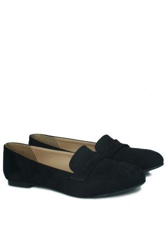 Fitbas - Fitbas 785307 008 Kadın Siyah Büyük & Küçük Numara Babet (1)