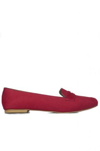 - Loggalin 785307 527 Kadın Kırmızı Babet (1)