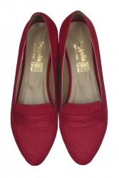 Fitbas 785307 527 Kadın Kırmızı Büyük & Küçük Numara Babet - Thumbnail